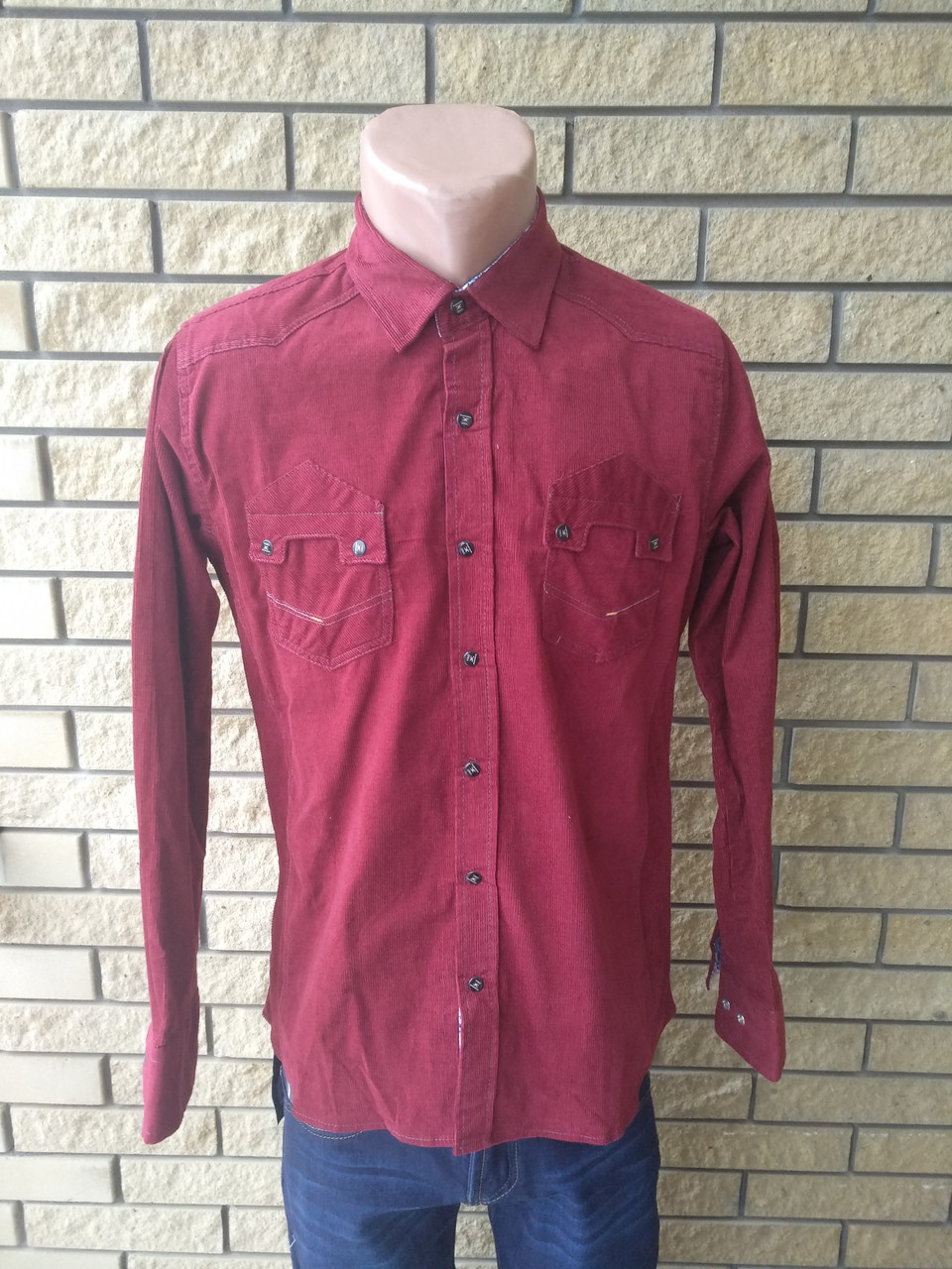 Рубашка мужская плотная микровельветовая высокого качества SPORTSMAN, Турция