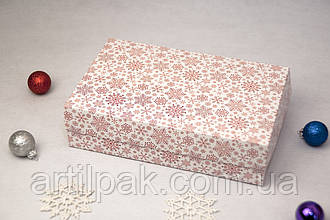 Коробочка для еклерів та зефіру 230*150*60 Сніжинка