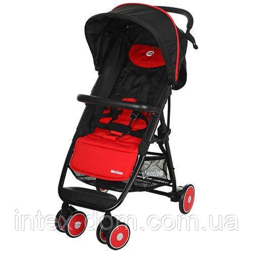 Прогулочная коляска Motion Красная (M 3295-3) с багажной корзинкой