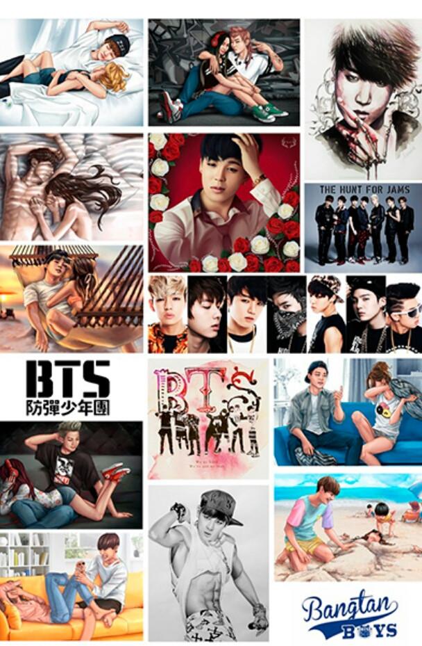 Наклейки BTS