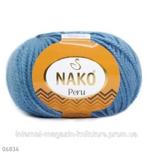 Пряжа Nako Peru Синий