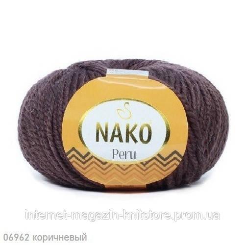 Пряжа Nako Peru Коричневый