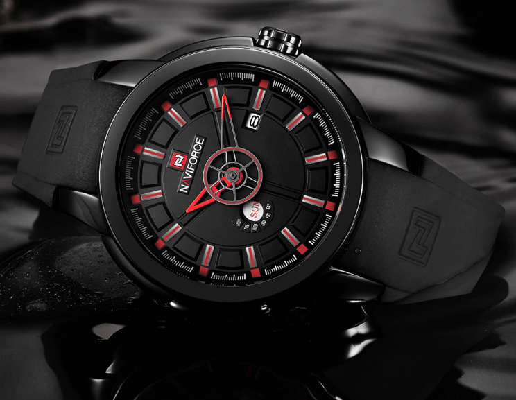 Чоловічі наручні кварцові годинники Naviforce NF9107-BBR