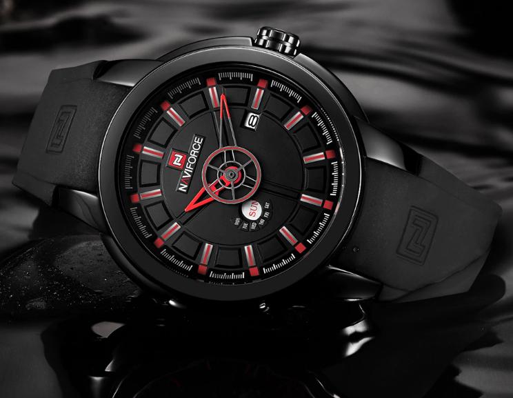 Мужские наручные кварцевые часы Naviforce NF9107-BBR