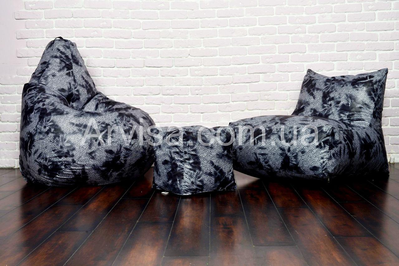 Кресло мешок груша пуф набор мягкой мебели