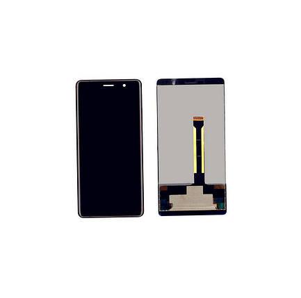 Дисплей (экран) для Nokia 7 Plus Dual Sim (TA-1046/TA-1055) с сенсором (тачскрином) черный, фото 2