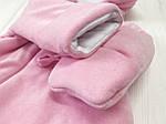 Комбинезон-человечек  на молнии велюровый демисезонный Розовый, фото 7