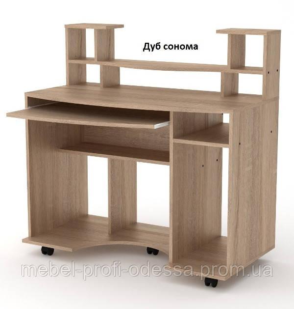 Прямой Стол компьютерный Комфорт 1 с надстройкой Компанит 1100х600х786+306