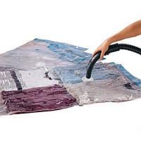 Вакуумний пакет для речей, 70x100 см, колір - Прозорий, пакет для вакуумної упаковки