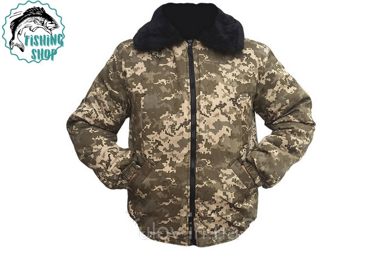Куртка - пилот камуфляжная (пиксель)