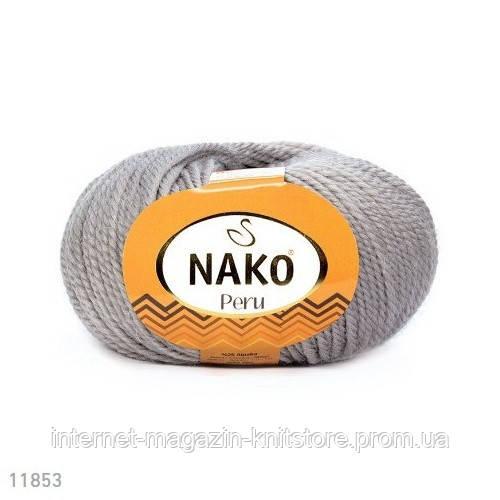 Пряжа Nako Peru Сірий