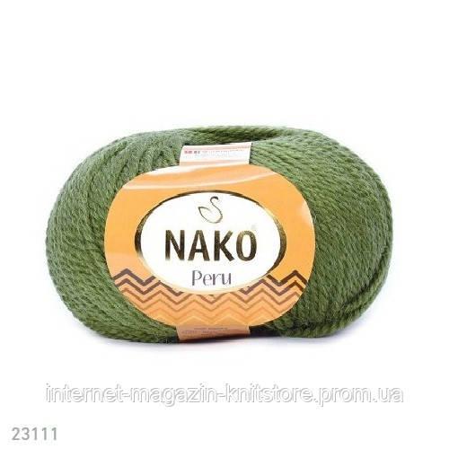 Пряжа Nako Peru Зеленый