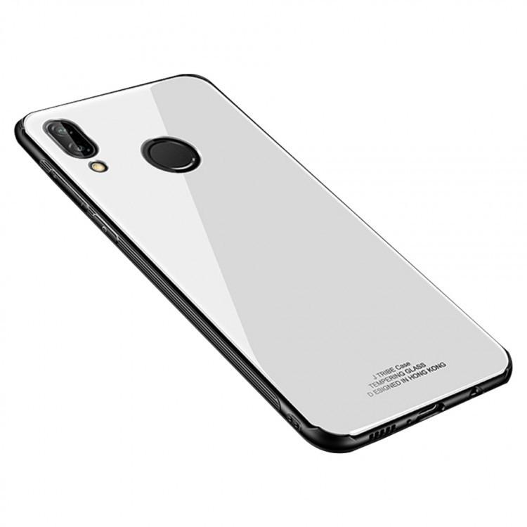 """Накладка Xiaomi Redmi Note 6/6 Pro """"Glass Case"""" Белая"""