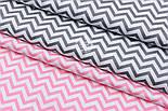 """Сатин ткань """"Густой средний розовый зигзаг"""" на белом, №1777с, фото 4"""