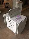 Широкий маникюрный стол на два рабочих места с полочками для лаков, фото 5