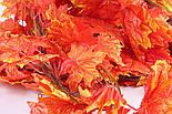 Осенняя оранжевая  лиана клён искусственная 14 метров 3M9, фото 5