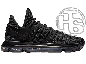 "Мужские кроссовки Nike Zoom KD 10 X ""Blackout"" Black/Dark Grey 897815-004"