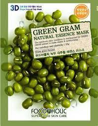 Тканевые маски для лица Food A Holic 3D Shape Natural Essence Mask (Зеленый горошек)