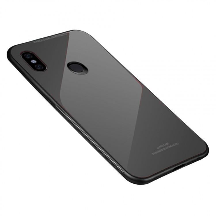 "Накладка Xiaomi Redmi Note 6/6 Pro ""Glass Case"" Черная"