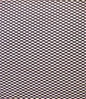 Решітка декоративна чорна 1м*20см, розмір соти №2(3-5мм), фото 1