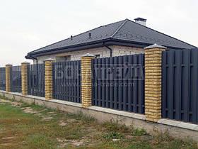 Евроштакет металевий «Класик» з двостороннім заповненням секції 1500, 3000