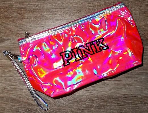 Косметичка Pink лаковая розовая