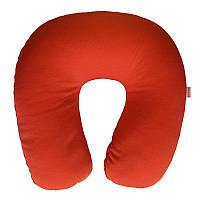 Подушка під шию, Memory Foam Travel Pillow, колір – Червоний, подушка під голову в літак