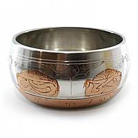 Тибетская поющая чаша (без резонатора) (d-11 см h-5,5 см)