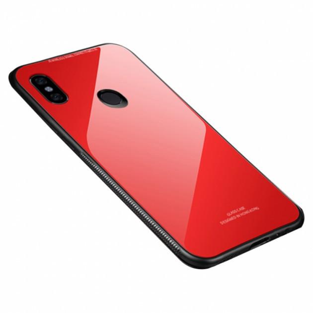 "Накладка Xiaomi Redmi Note 6/6 Pro ""Glass Case"" Красная"