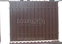 Евроштакет металлический  «Классик» с двусторонним заполнением секции 2000, 2000