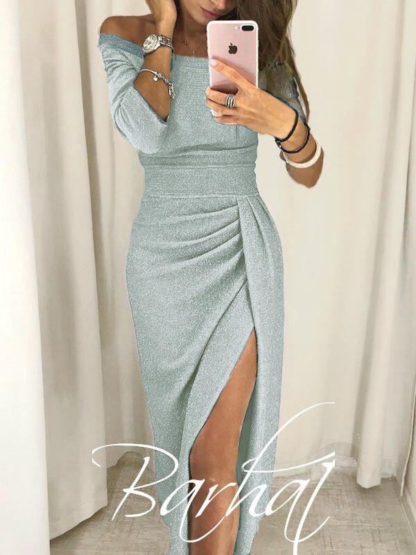 653b1643fc4 Вечернее платье с разрезом люрекс  продажа