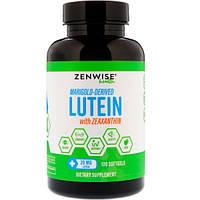 Лютеин натуральный из календулы 20 мг 120 таб витамины для глаз Zenwise Health (USA)