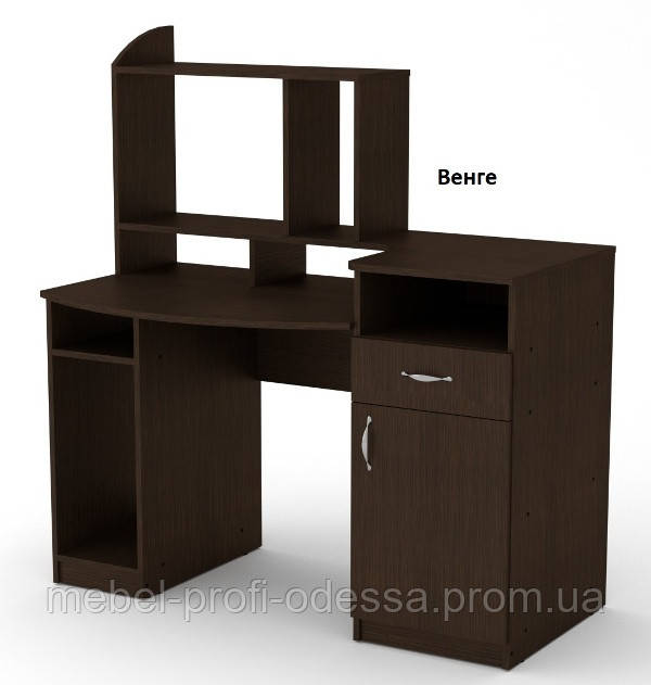 Прямой стол компьютерный Комфорт 2 Компанит 1286х700х756+630