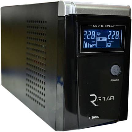 Джерело безперебійного живлення Ritar RTSW-600D12 (LCD) з правильною синусоїдою, фото 2