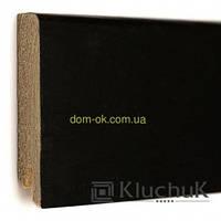Плинтус Ключук шпонированный Дуб черный высотой 60 и 80мм 80х18мм.