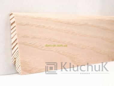 Плинтус Ключук шпонированный Ясень выбеленый высотой 60 и 80мм 60х18мм.