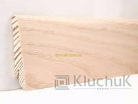 Плинтус Ключук шпонированный Ясень выбеленый высотой 60 и 80мм 60х18мм., фото 1