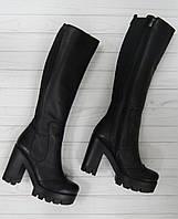 Осенние женские сапоги на платформе в Украине. Сравнить цены 71c028eb63688