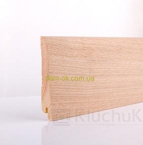 Плинтус шпонированый Ключук, Neo plint Дуб шлифованый, длина 2,2 м 120х19х2200мм