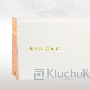 Ключук шпонированный плинтус Neo plint Дуб белый, длина 2,2 м 100х19х2200мм