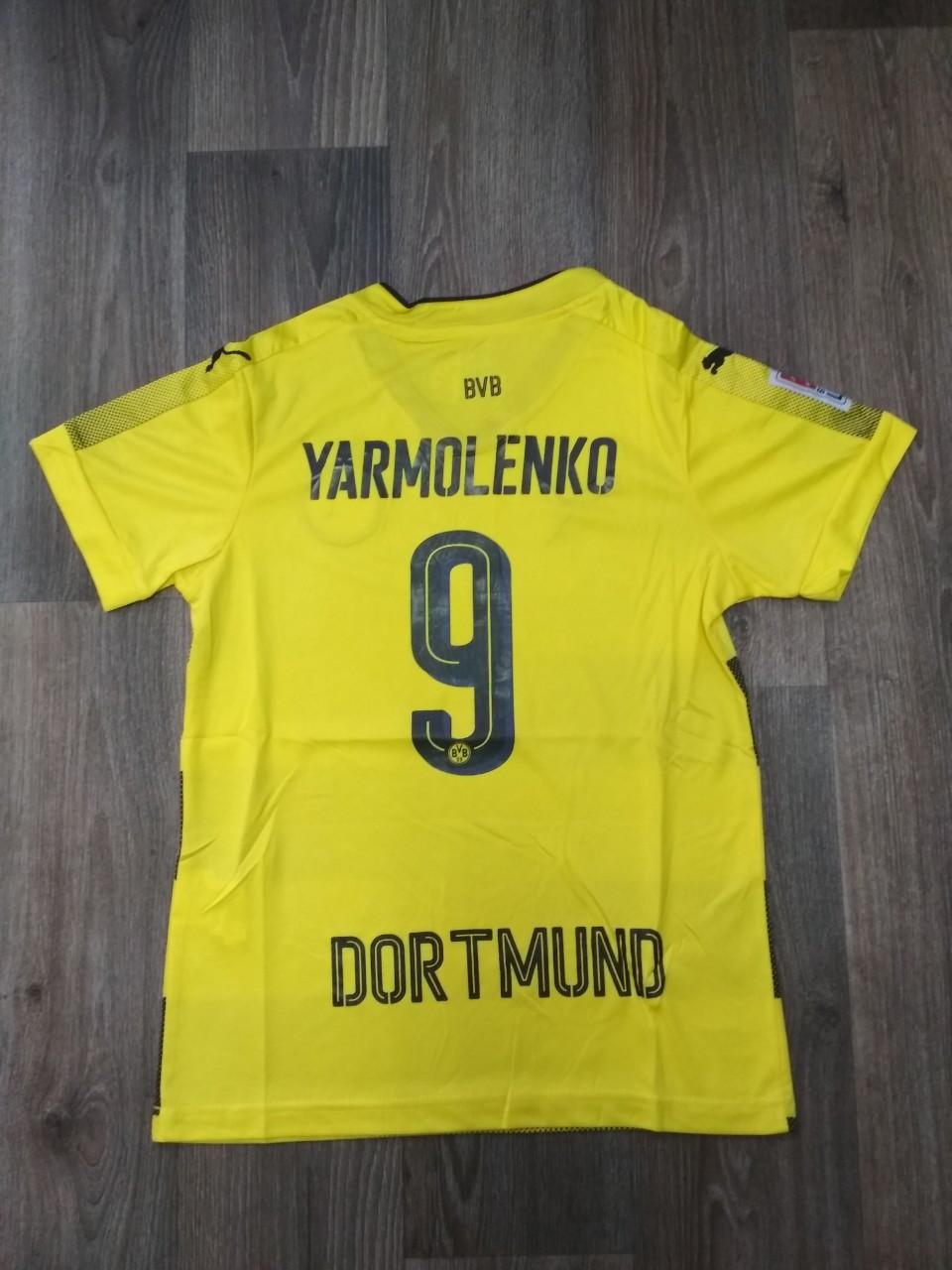 Детская футбольная форма Боруссия Дортмунд (Yarmolenko) сезон 2017-2018 желтая (22 размер)  Распродажа