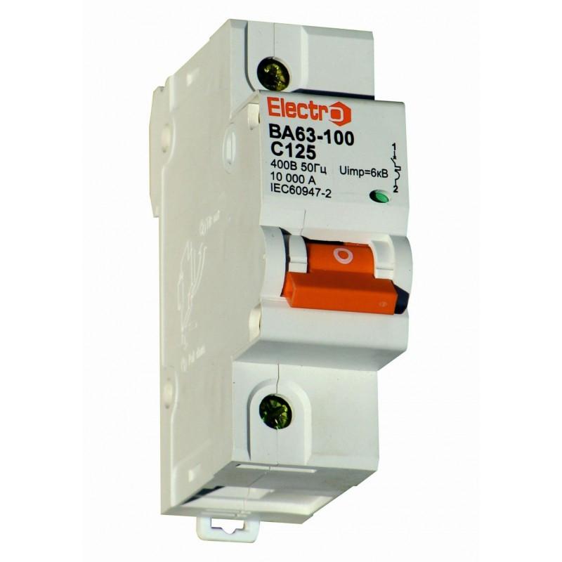 Выключатель автоматический ВА63-100 1 полюс 80А 10Ка Тип С