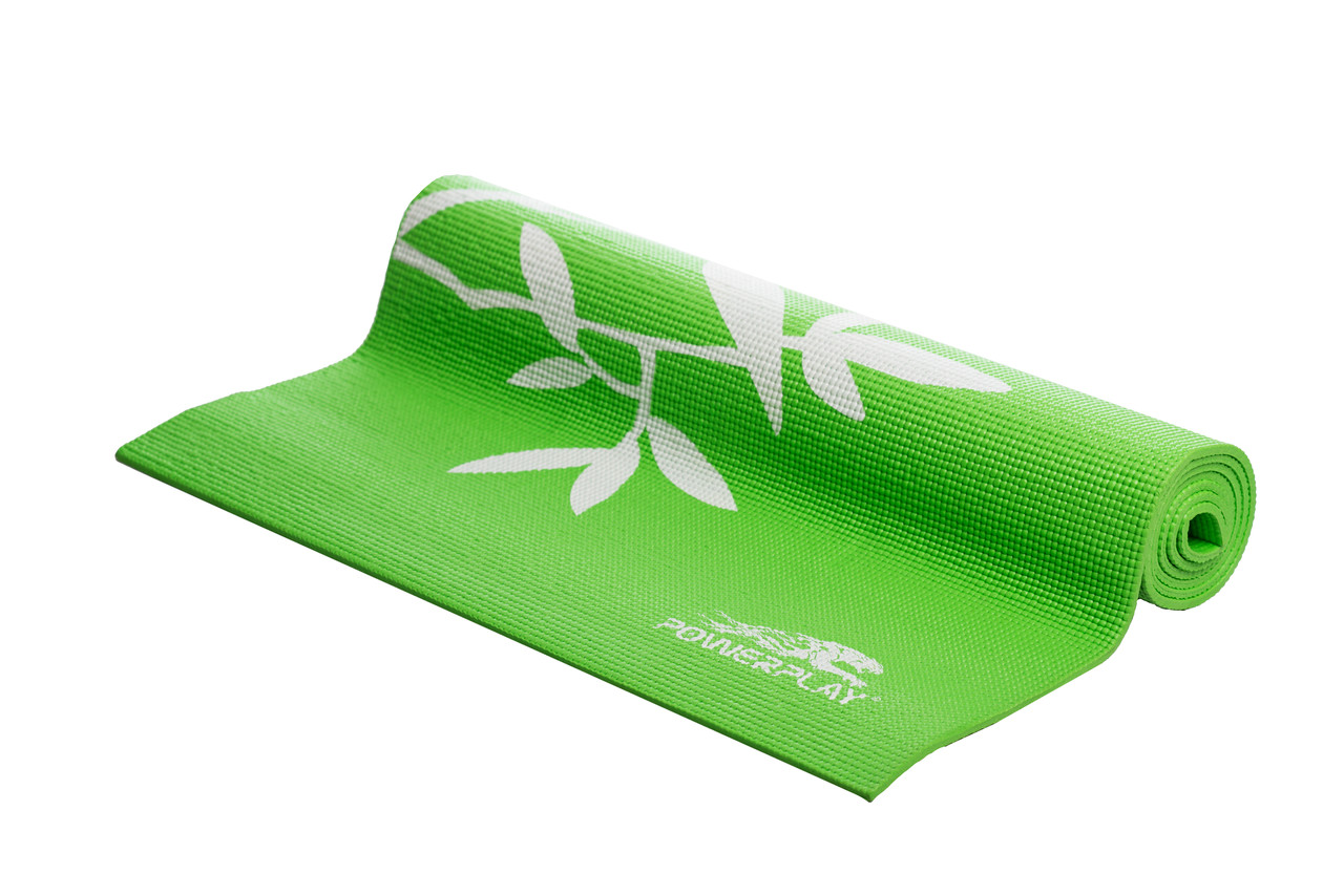 Килимок для фітнесу і йоги PowerPlay 4011 (173*61*0.6) Зелений