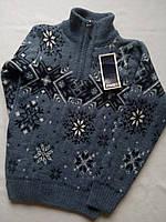 Детский свитер под горло зимний на мальчика фирмы FIVE (снежинки), фото 1