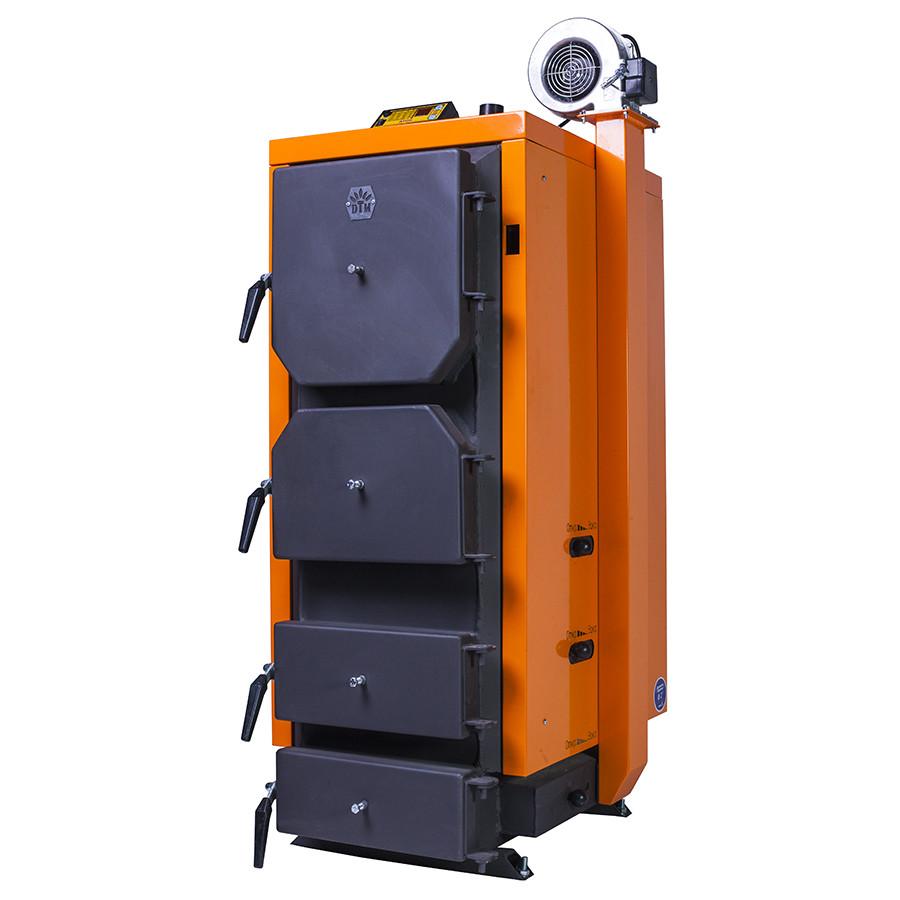 Котел на твердом топливе Донтерм Турбо 13 кВт, 130 м²