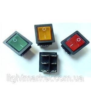 Кнопка широкая 6 pin с подсветкой