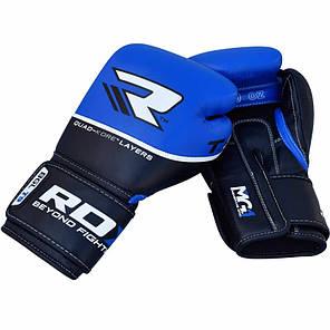 Боксерские перчатки RDX Quad Kore Blue 12 ун., фото 2