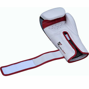 Боксерские перчатки RDX Rex Leather Red 12 ун., фото 2