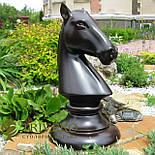Великі шахові фігури скульптури з дерева, фото 3