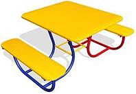 Детский столик с двумя лавочками
